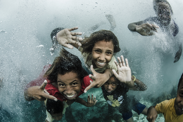 Children underwater