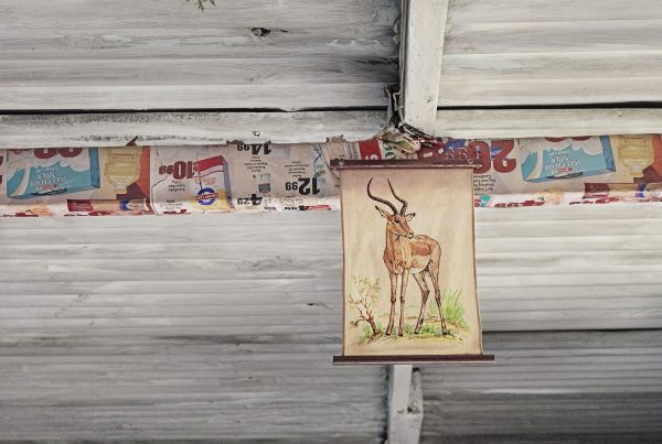 A lounge decoration at a boarding house in Kwakwatsi township. Koppies. South Africa.2011.